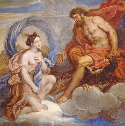 Miichel Corneille the Younger 'Iris y Júpiter', 1701, Palacio de Versalles, Francia. Wikimedia Commons, 6 julio 2009