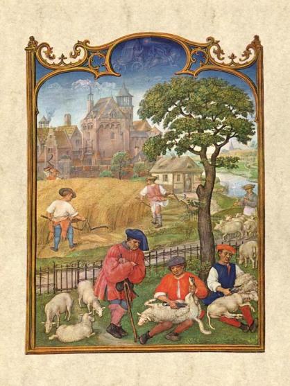 Gerard Horenbout, Alexander & Simon Bening 'Julio', 1510. Fuente Venecia, Biblioteca Marciana. Wikimedia Commons 25 septiembre 2006