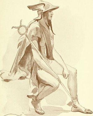 Aria Eliza (Davis) Traje: fantasía, histórico, y teatral, 1906. Bibliotecas: Robarts - Universidad de Toronto, Canada. Wikimedia Commons 3 octubre 2015