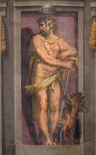 Cristofano Gherardi called il Doceno 'Plutón, fresco (1555 - 1557), Museo Palazzo Vecchio, Florencia, Italia. Google Cultural Institute. Wikimedia Commons 23 enero 2013