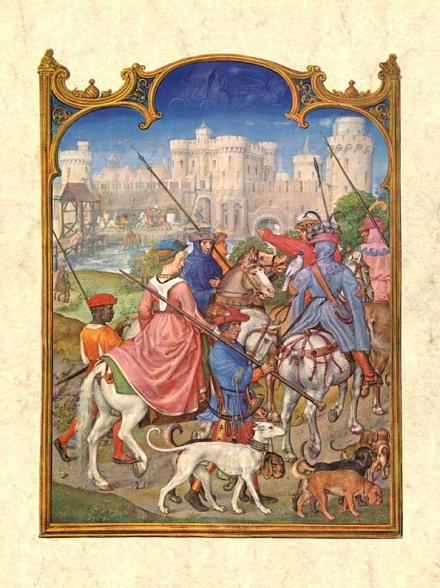 Gerard Horenbout, Alexander & Simon Bening 'agosto', 1510. Fuente Venecia, Biblioteca Marciana. Wikimedia Commons 25 septiembre 2006