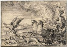 Wenceslaus Hollar (1607-1677) 'Dioses griegos: Marte',  Thomas Fisher Rare Book Library, Universidad de Toronto, Canada. Wikimedia Commons 16 marzo 2009