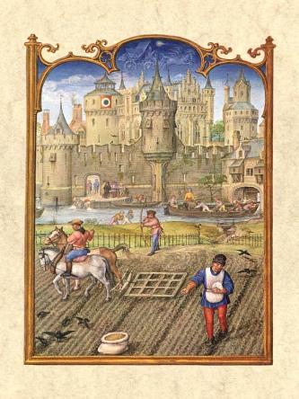 Gerard Horenbout, Alexander & Simon Bening 1510 'Octubre', Fuente Venecia, Biblioteca Marciana. Wikimedia Commons 25 Septiembre 2006