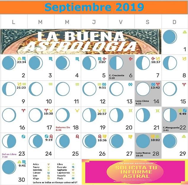 Calendario Lunar agosto2019